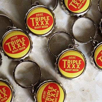Triple XXX Logo Bottle Cap Key Chain/Bottle Opener