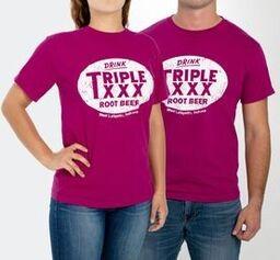 Triple XXX Root Beer Bottle Cap Short Sleeve T-Shirt