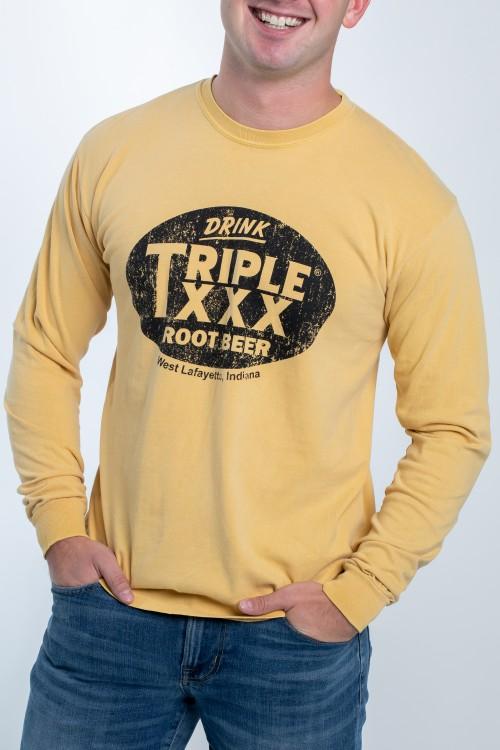 Triple XXX Root Beer Bottle Cap Long Sleeve T-Shirt