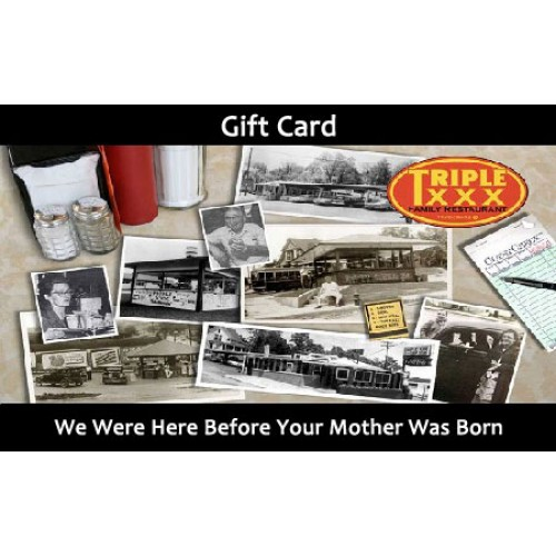 Triple XXX Restaurant Gift Cards