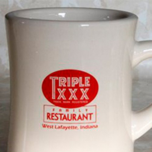 Triple XXX White Ceramic Coffee Mug