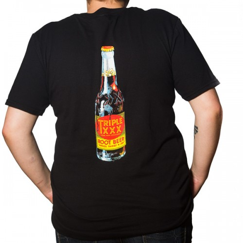 Triple XXX Root Beer Bottle Short Sleeve T-Shirt